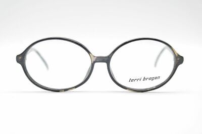 AnpassungsfäHig Vintage Terri Brogan 8807 55[]13 140 Schwarz Oval Brille Eyeglasses Nos