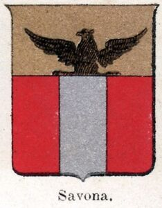 Savona-Small-Crest-1901-Chromolithography-Print-Ancient-mat