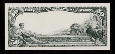 Proof Print or Intaglio Impression by BEP Back of 1863 $100 National Currency