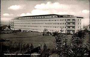 Northeim alte Ansichtskarte ~1950/60 Blick auf das Albert Schweitzer Krankenhaus
