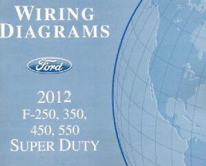 2012 ford f250 f350 f450 f550 factory wiring diagram scehmatics rh ebay com 2003 Ford F-250 Super Duty Fuse Diagram ford f550 super duty fuse box diagram