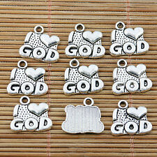 20pcs tibetan silver color moustache design charms EF2323