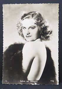 Irene-de-Trebert-Ak-Photo-Autogramm-Karte-Photo-Postcard-G-3297