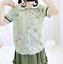 Women-039-s-Bowknot-Dress-Chiffon-Shirt-Girls-Lolita-Kawaii-Short-Sleeve-Blouse-Tops thumbnail 11