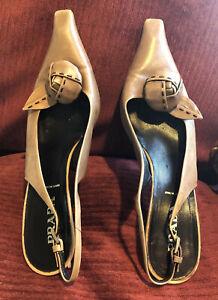 Prada Shoes | Authenticpradabrown Suede Heels | Poshmark