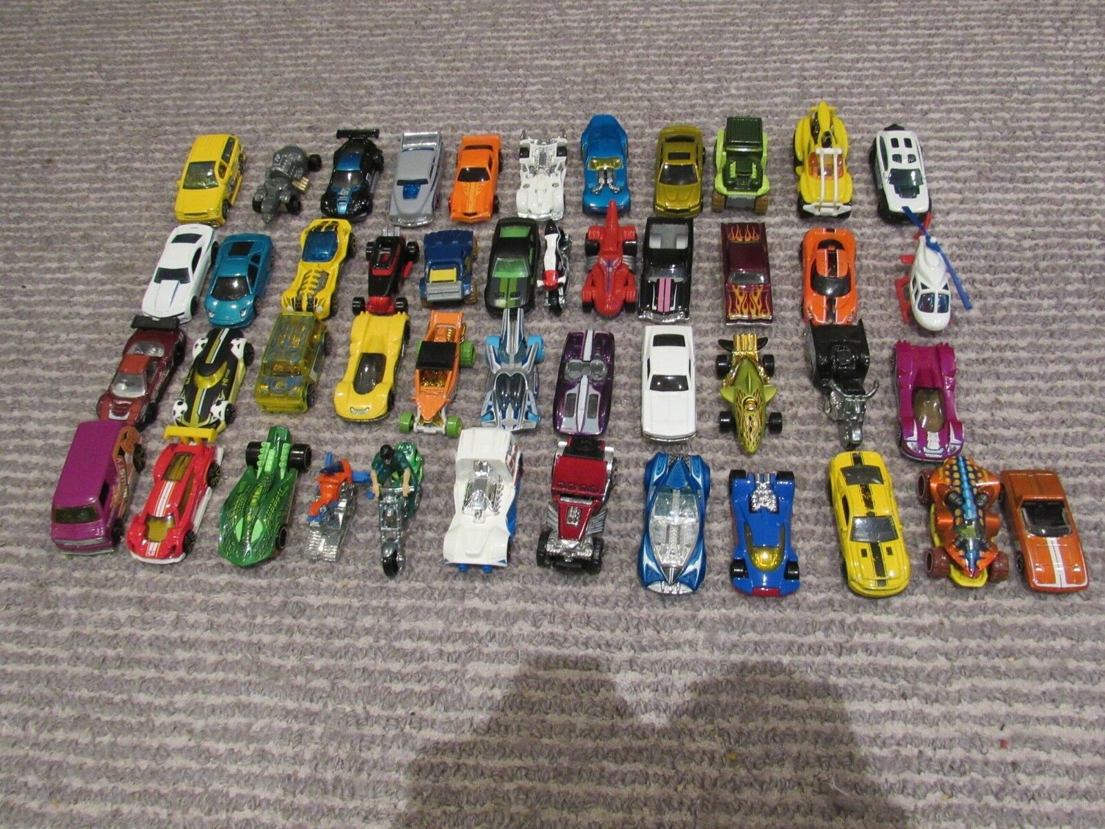 Mainly Hot Wheels; Some Mattel -Lot of 53 Toy Cars Diecast Used-Great Condition