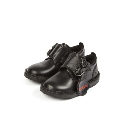 KICKERS Adlar moine d Sangle Infant Noir Tactile Fermeture Chaussure 114169 RRP £ 50