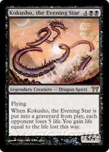 KOKUSHO-THE-EVENING-STAR-Champions-of-Kamigawa-MTG-Black-Creature-Dragon-RARE
