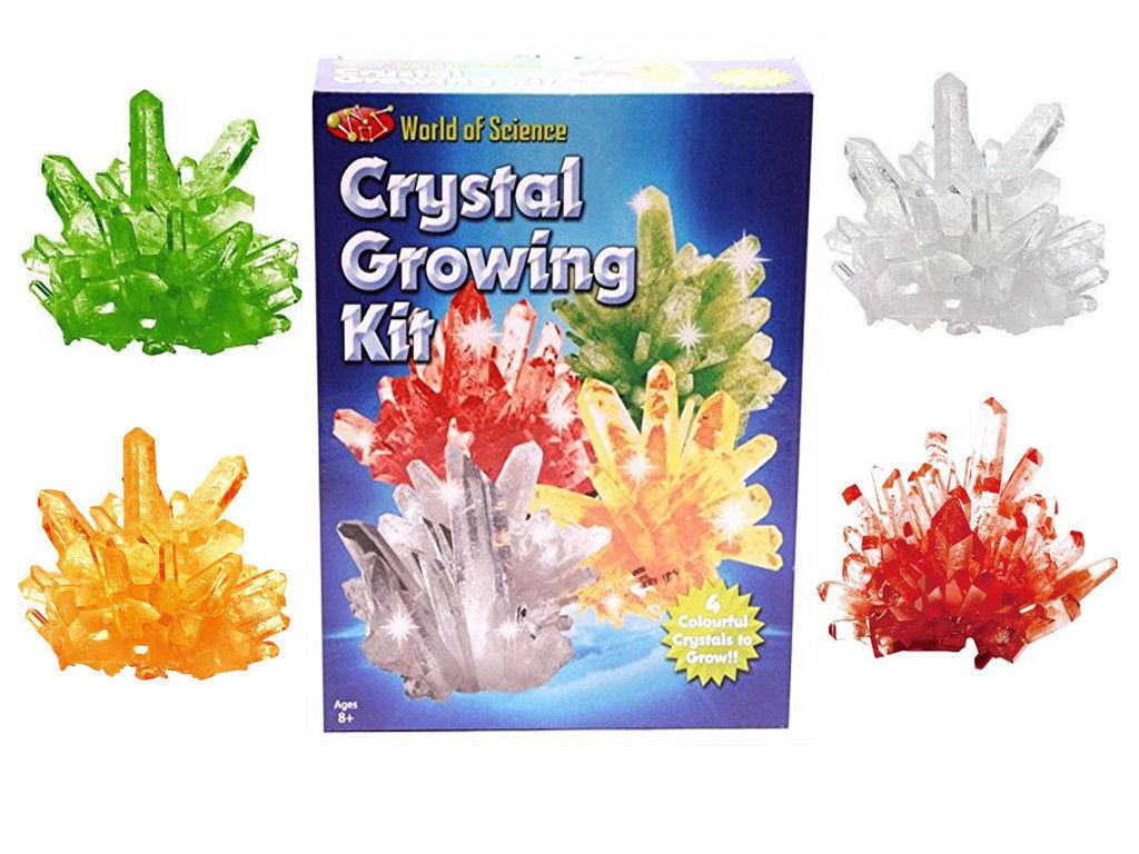 El Mundo de Ciencia Cristal Creciente Kit - Haz Crecer 4 Experimento Set Juegos