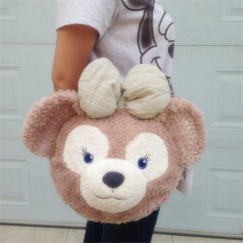 Shellie May Duffy Bear Face Plush Tote Bag Handbag Shoulder Bag Backpack