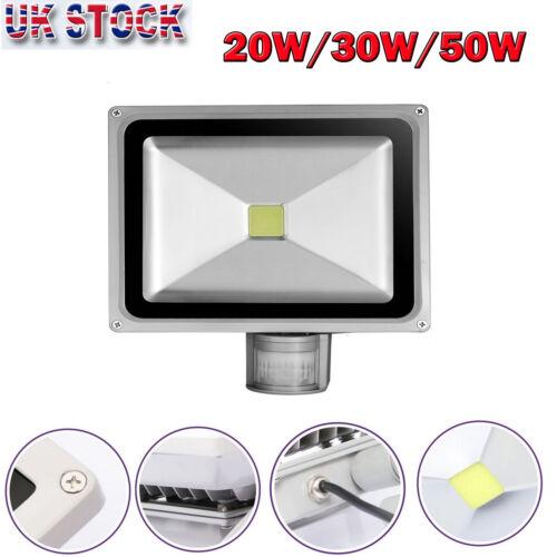 HOT SALE 20W 30W 50W PIR Motion Sensor LED Floodlight Security Outdoor Light