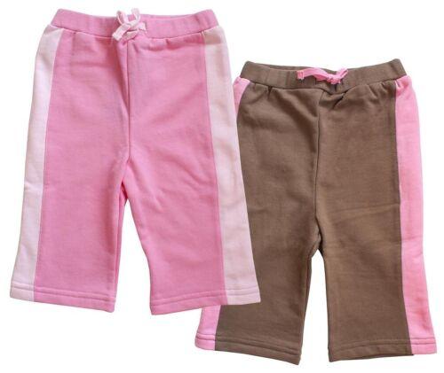 Le ragazze Twin Pack Pink /& Brown elastico in vita al ginocchio Estate Pantaloncini