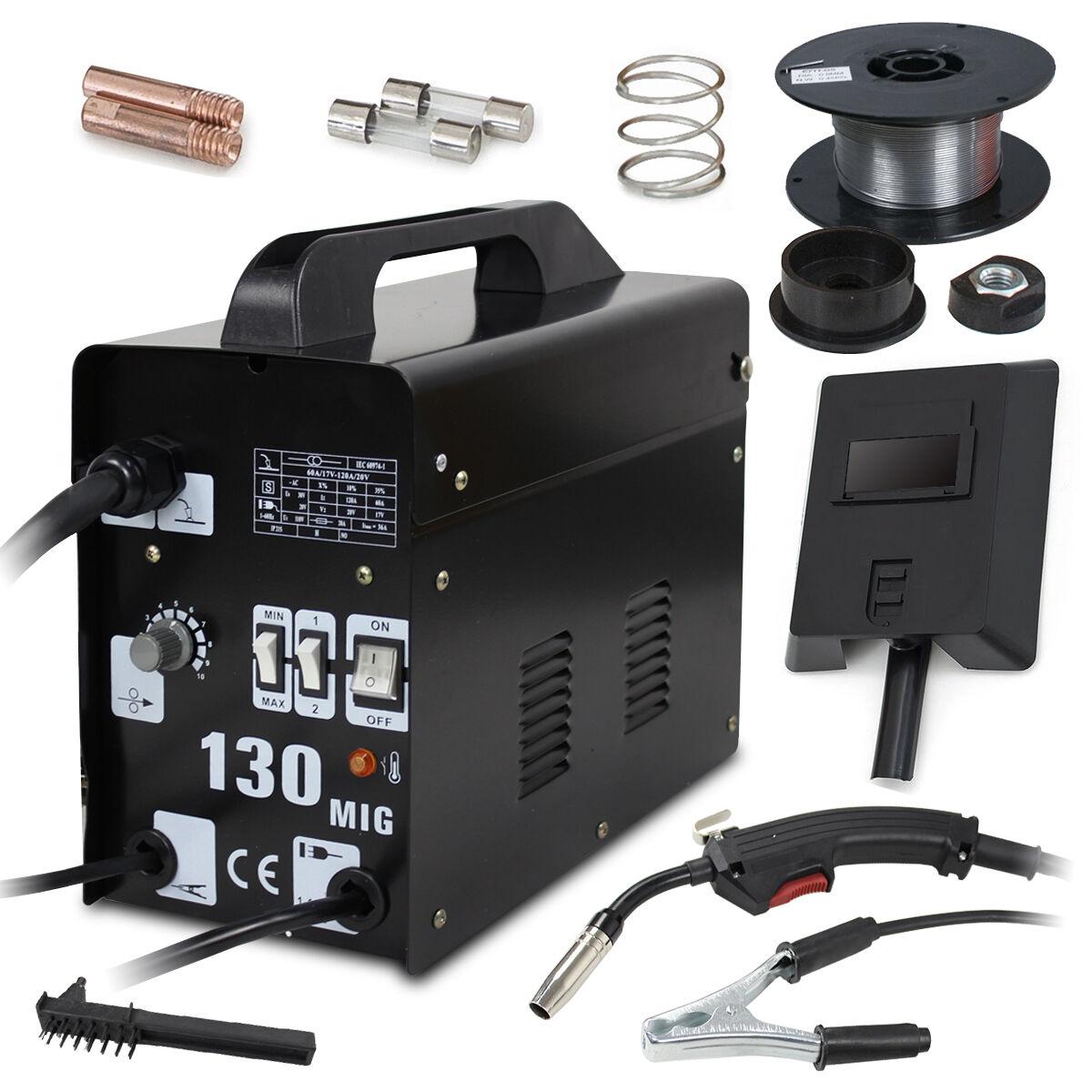 GSDD13001A greatshoppingday2012 MIG 130 Welder Gas Less Flux Core Wire Automatic Feed Welding Machine W/ Mask