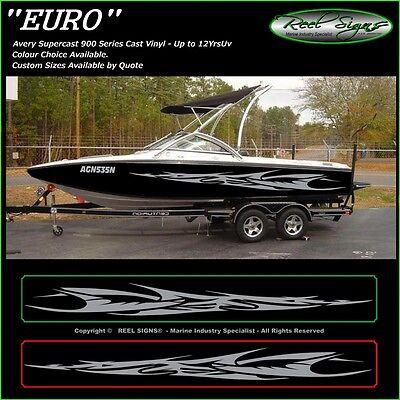 "BOAT GRAPHICS DECAL STICKER KIT /""EURO 3200/""  MARINE CAST VINYL"