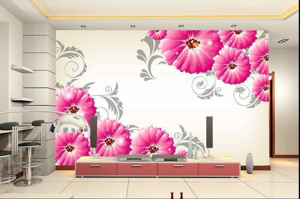 3D lila Daisy Lace 8 Wall Paper Murals Wall Print Wall Wallpaper Mural AU Kyra