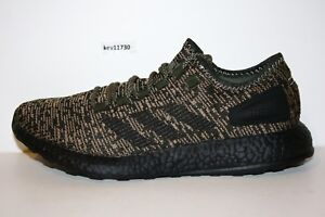 new products 082b7 dd353 Image is loading AUTHENTIC-adidas-Pure-BOOST-Night-Cargo-Black-Core-