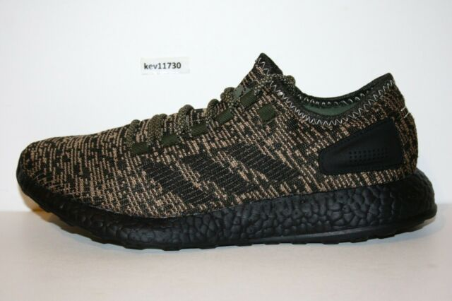 lowest price a95f9 0c35e AUTHENTIC adidas Pure BOOST Night Cargo Black Core Running Shoes CG2986 Men  size