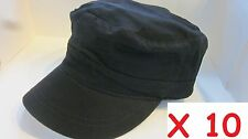 WHOLESALE LOT 10  BDU MILITARY STYLE Caps Adjustable Back 100% Cotton BLACK
