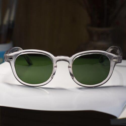 Johnny Depp sunglasses green glass lens crystal glasses mens retro sunglasses