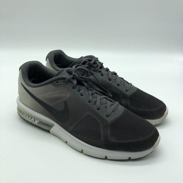 23b35c445aa9f Nike Air Max Sequent Mens 719912-007 Dark Grey Black Mesh Running Shoes  Size 9