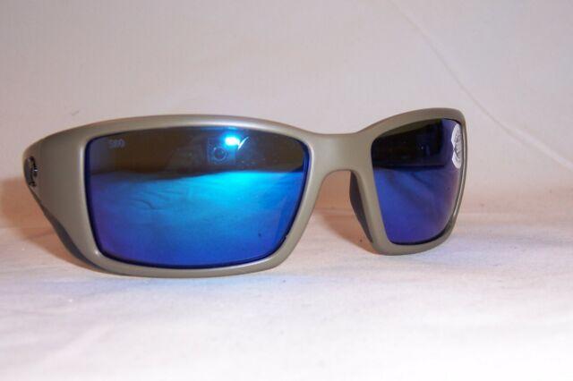 Costa Half Moon Matte Moss Plastic Frame Blue Lens Unisex SunglassesHFM198OBMGLP
