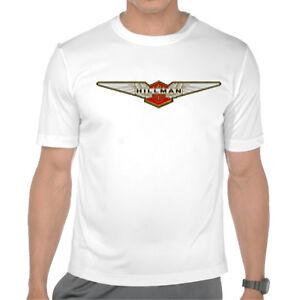Hillman-Insignia-Emblema-Hunter-Imp-Rootes-Para-Hombre-Impreso-Tee-Shirt