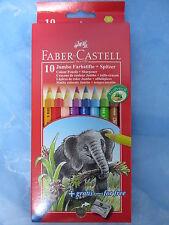111210 Faber Castell 10 Jumbo Buntstifte mit Spitzer Colour Malstifte Stifte