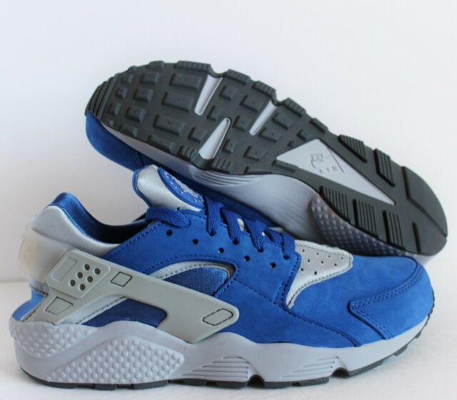 d243e894a1209 NIKE AIR HUARACHE RUN PRM PREMIUM VARSITY ROYAL BLUE-GREY SZ 9  704830-