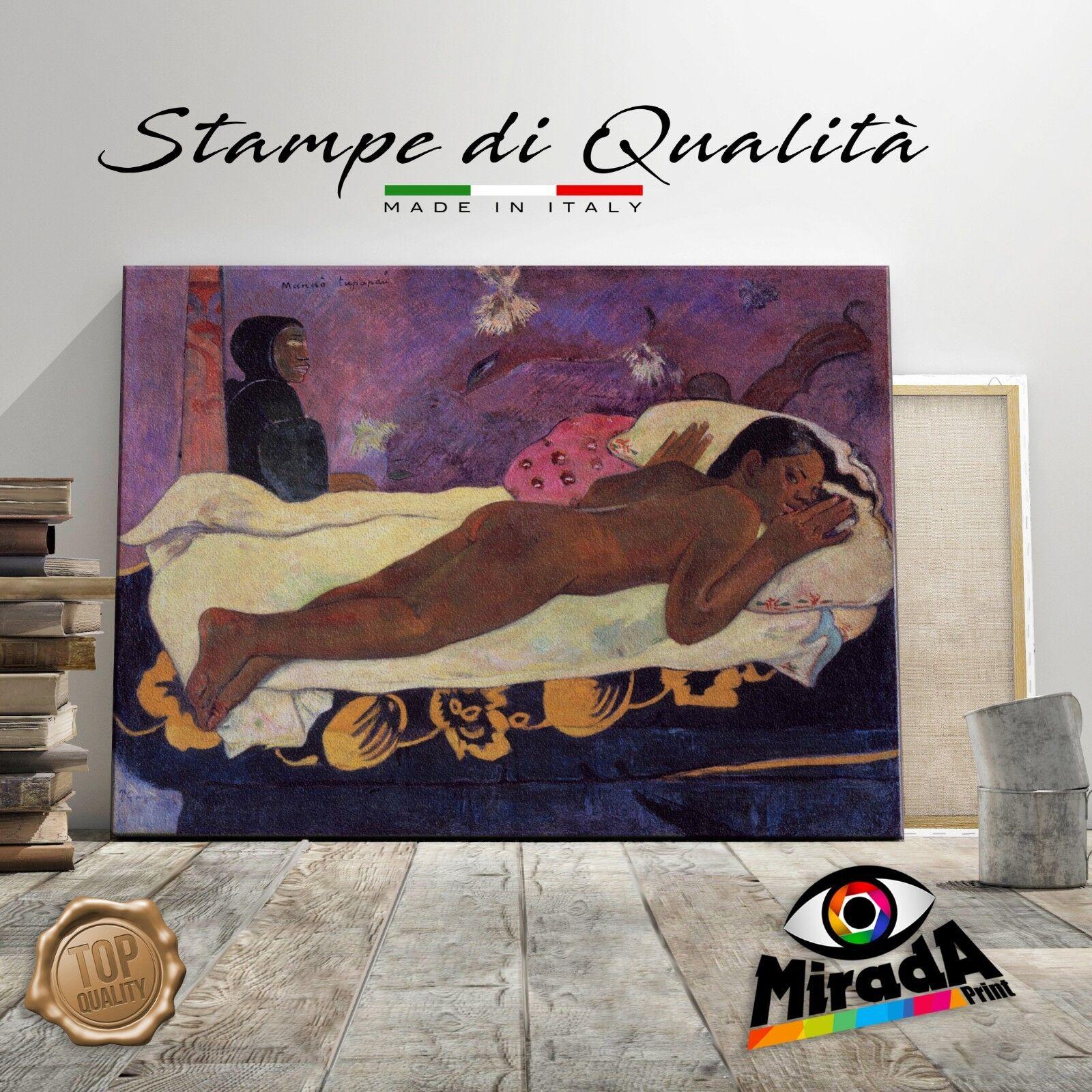 Paul Gauguin Lo Esprit de Morts Morts Morts Veille Peinture Impression Toile Art Réduction 4b489d