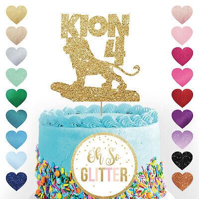 Lion King Simba Inspired personalised Glitter Card Birthday cake topper Disney