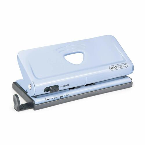 Blue Rapesco Adjustable 6-Hole punch for Planners and 6-Ring Binders