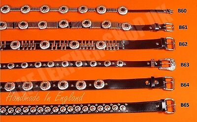 Bullet New Leather Punk Gothic Biker Handmade Studded Jeans Belts Made In UK