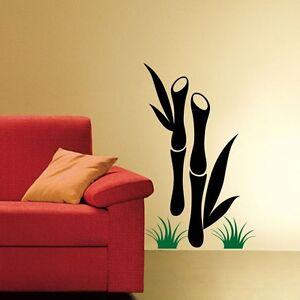 wall stickers fiori bamboo camera soggiorno armadio adesivi murali ...