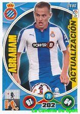 178BIS ABRAHAM ESPANA RCD.ESPANYOL UPDATE CARD ADRENALYN 2015 PANINI