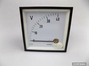 Gossen-1604PDC40-DS-96-Einbau-Voltmeter-Anzeige-fuer-Gleichstrom-Gleichspannung