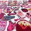 miniature 2 - Embroidered Patches PINK Sew on Iron on Biker Patch Badges Transfers Applique