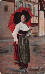 CPA-cartes-fantaisies-Elsasser-tracht-Jeune-fille-tenue-d-039-alsacienne