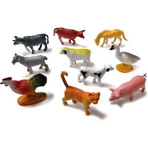10 Mini Plastique Animal de Ferme Jouets  </span>