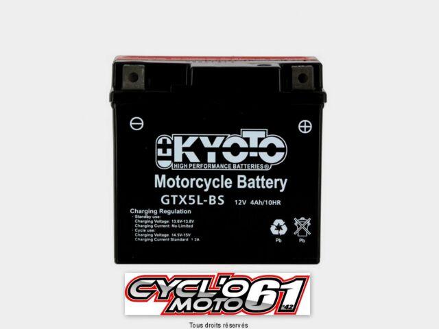 Motocycle Battery Kyoto YTX5L-BS Keeway Matrix 50 2007 2008 2009 2010