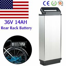 36v 14ah 500w Rear Rack Carrier E Bike Electric Bicycle Lithium Battery Kit Us