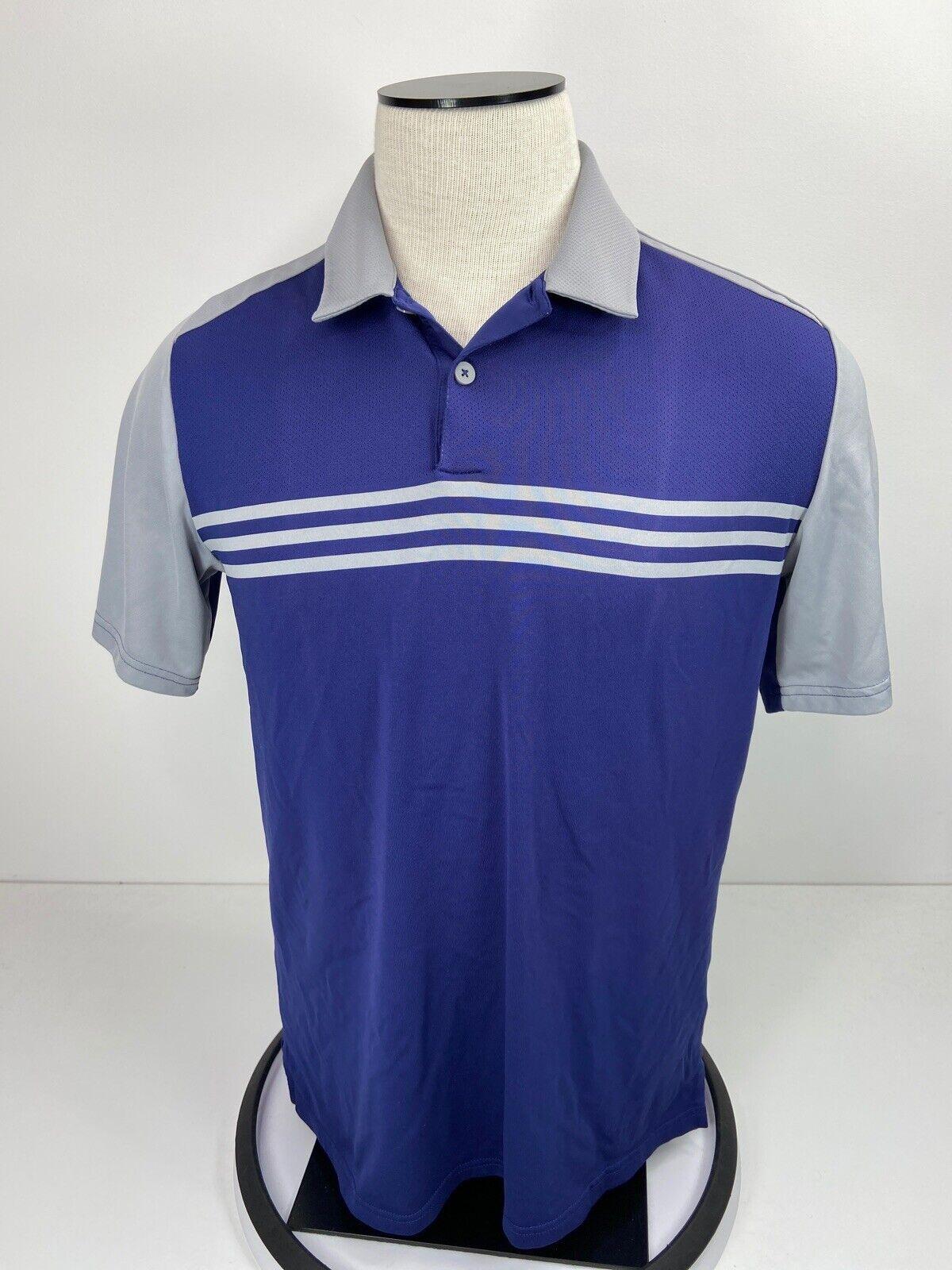 Adidas Men's Climacool Blue Gray Polo Shirt Size M - Gem