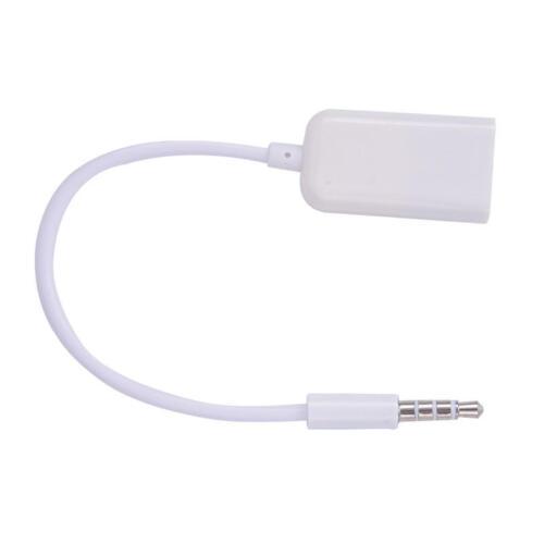 105947 USB zu Auto Anlage 3,5mm Klinke Adapter für SAMSUNG Musik 3,5aux