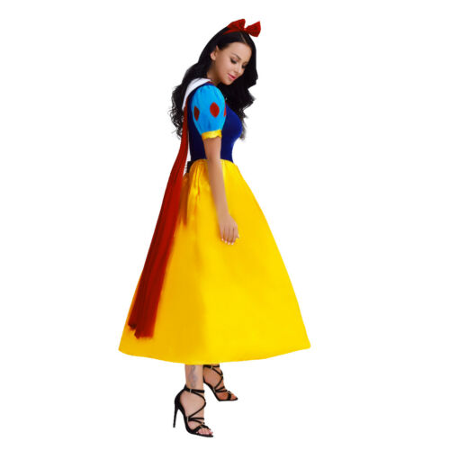 Snow White Princess Cosplay Party Costume Halloween Fairytale Fancy Dress UP HOT