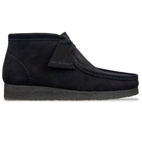 Blue Clarks Originals Wallabees Boots Nut Brown Black Clarks Originals