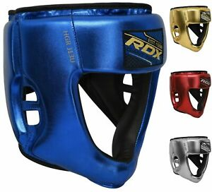 MMA Boxing Head Guard Leather Protective Headgear Lightweight New For Kids//Adult