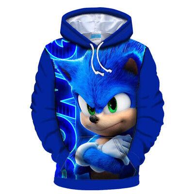Sonic The Hedgehog Kinder Langarm T-shirt Pullis Kapuzenpullover Sweatshirt Neu