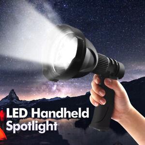 LED Handheld Spotlight Rechargeable Camping Hunting Flashlight Torch Spot Light