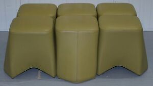 1-OF-6-RRP-880-EACH-BOSS-DESIGN-HOOT-LEATHER-STOOLS-MODULAR-CONTEMPORARY-DESIGN