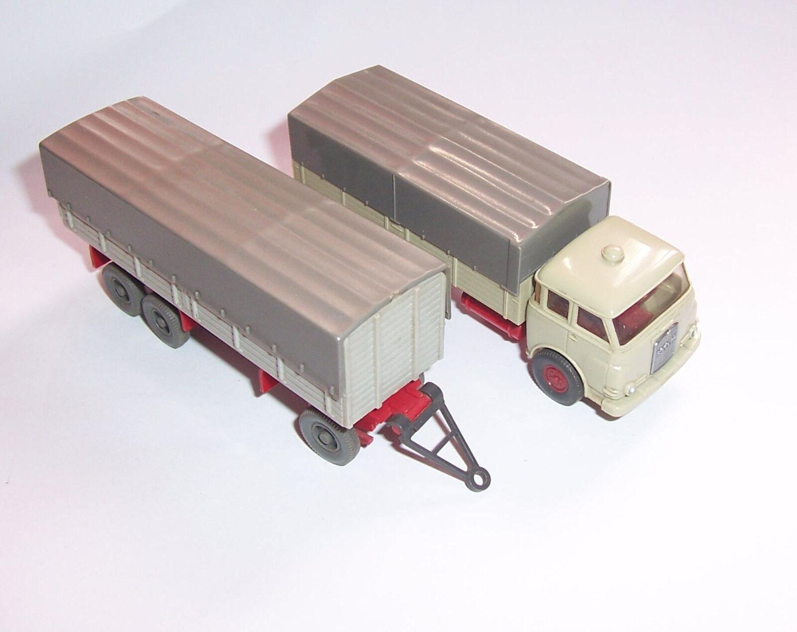 Wiking 633 voiture miniature 10.230 on pieux Hängerzug 1 87 h0