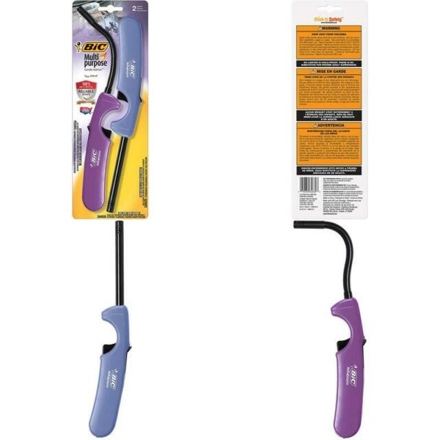2-Pack BIC Multi-purpose Classic Edition Lighter /& Flex Wand Lighter